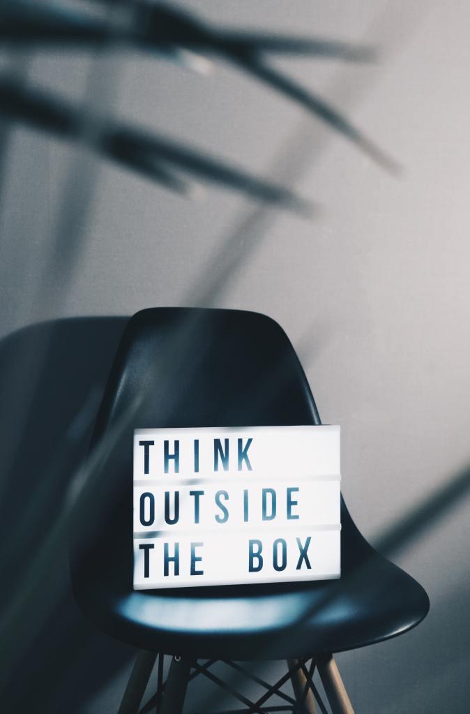 Cinema Lightbox saying 'Think Outside the Box' - Solva Group Inc.